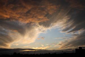 Sunset Cloud Swoosh by ambaqua