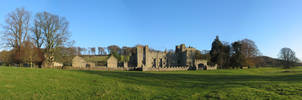 Featherstone Castle Panoramic by ambaqua