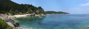 Paxos Bay Panoramic by ambaqua