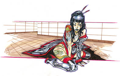 Geisha_Color by illustrated1