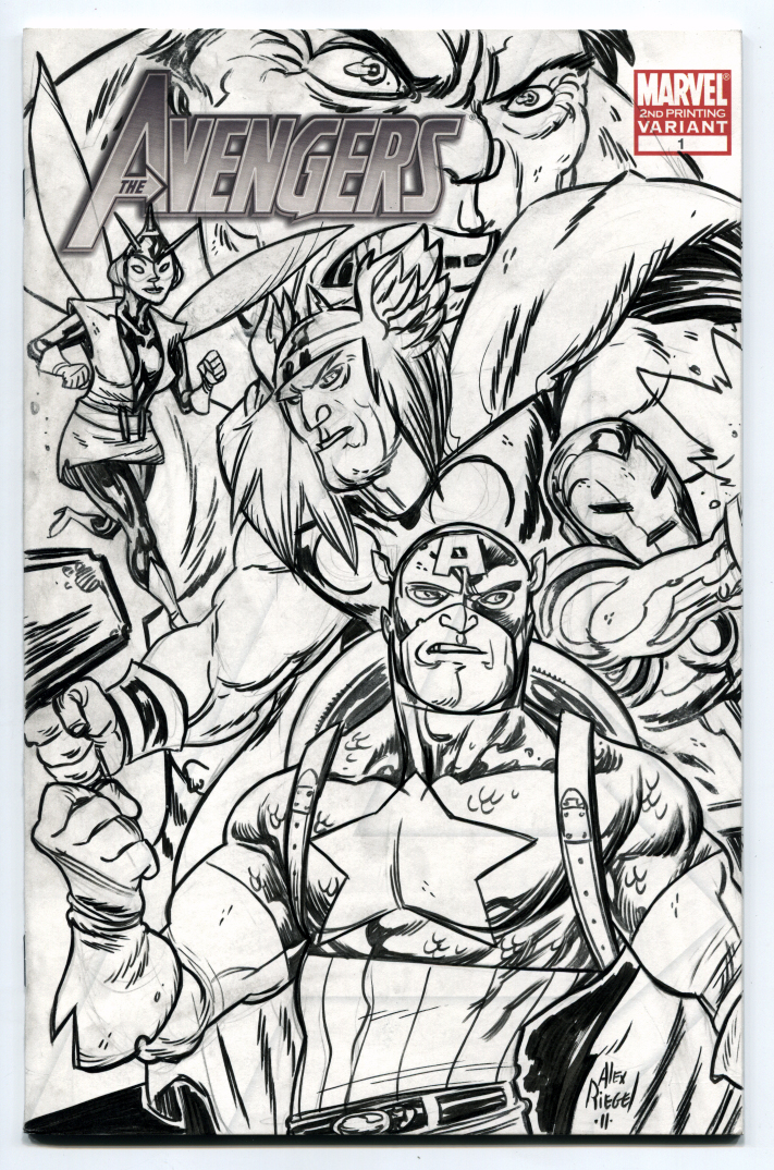Avengers Sketch Cover Inked By Illustrated1 On DeviantART