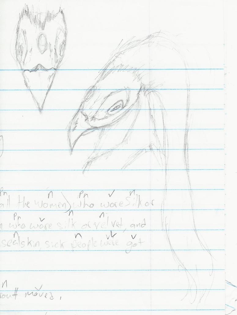 Demon Bird Sketch2 By Forsakenwolfshadow On DeviantArt