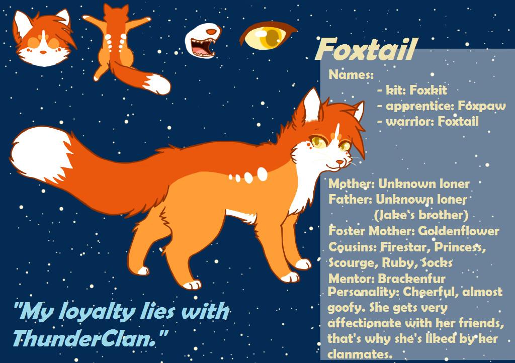 Foxtail Ref Sheet by RoxyPuppyGirl