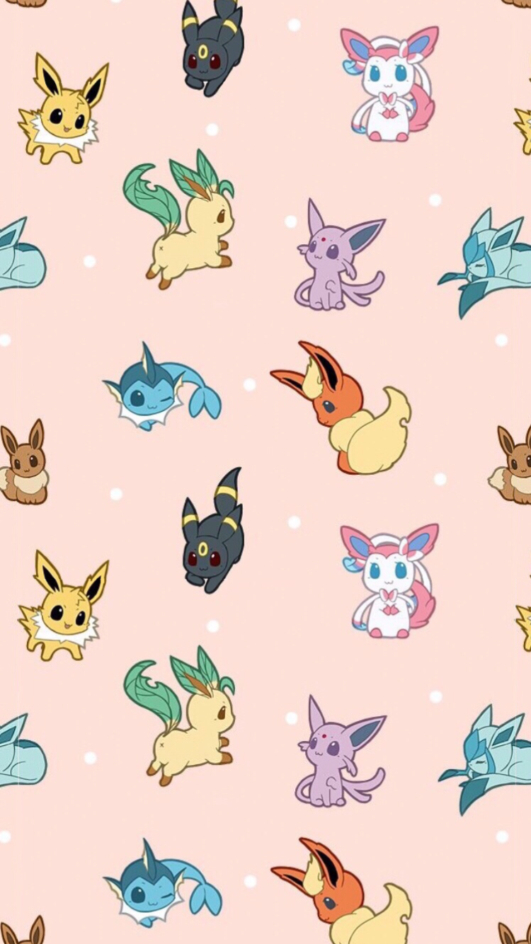 Eeveelution phone wallpaper by Ghouly
