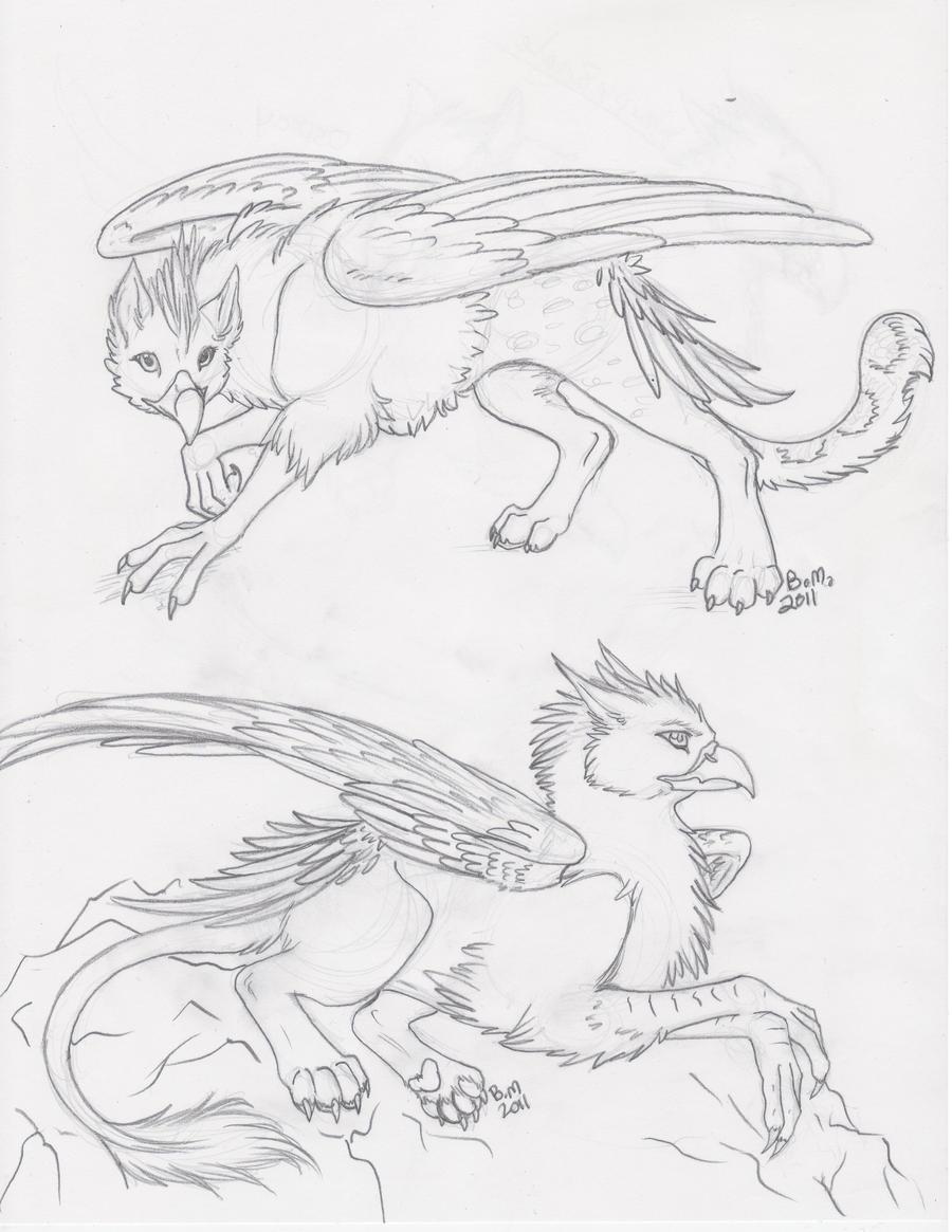 Gryphons by SilverUrufu