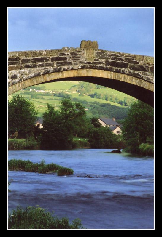 Bridge at Llanwrst by ash