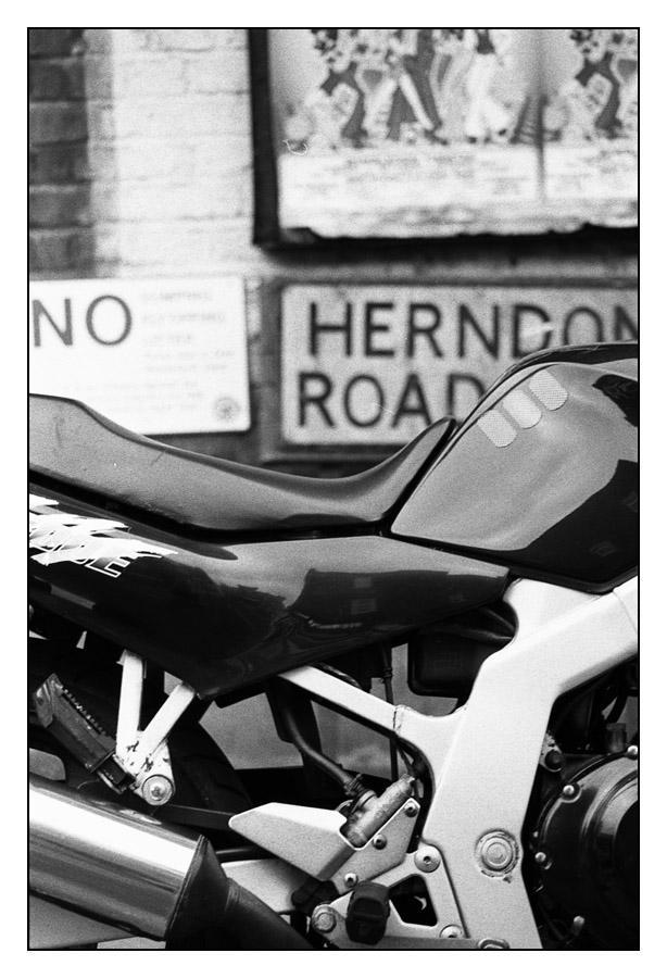 Bike in Herndon Road by ash