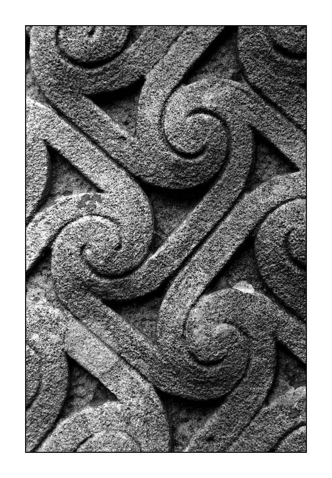 Gravestone at Glendalough by ash