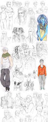 OC doodle dump /PART 1 by Ashurana