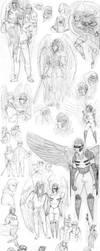 OC doodle dump /PART 2 by Ashurana