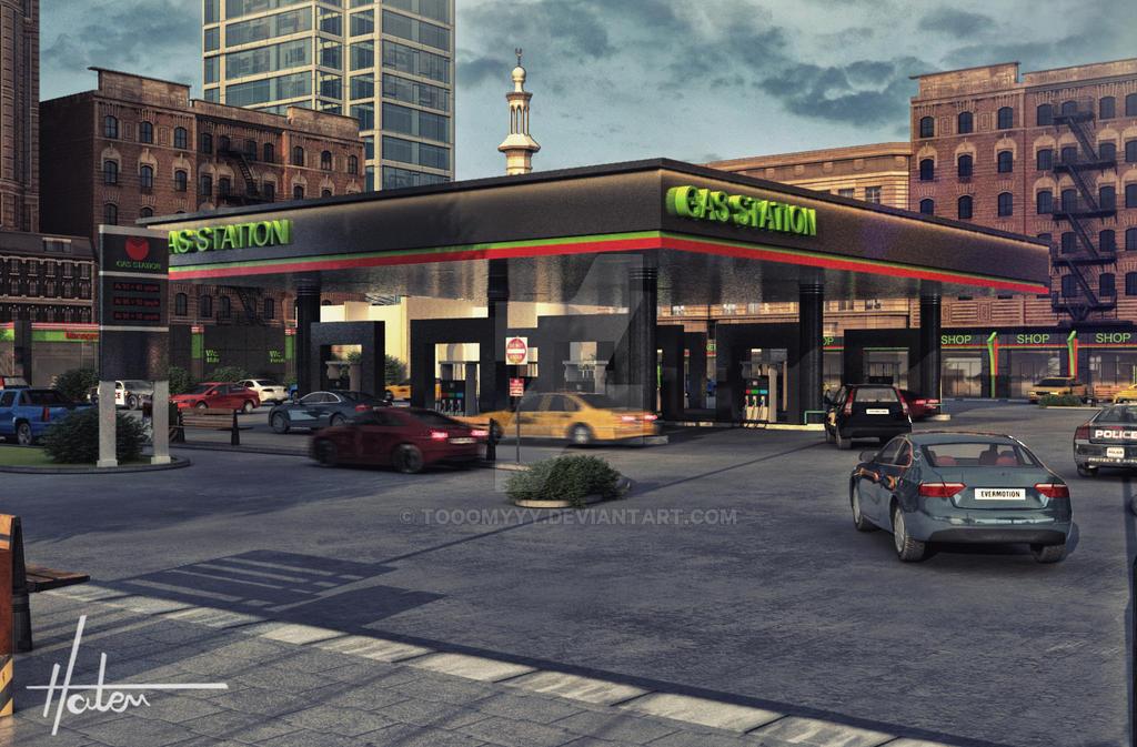 Gas Station by Tooomyyy