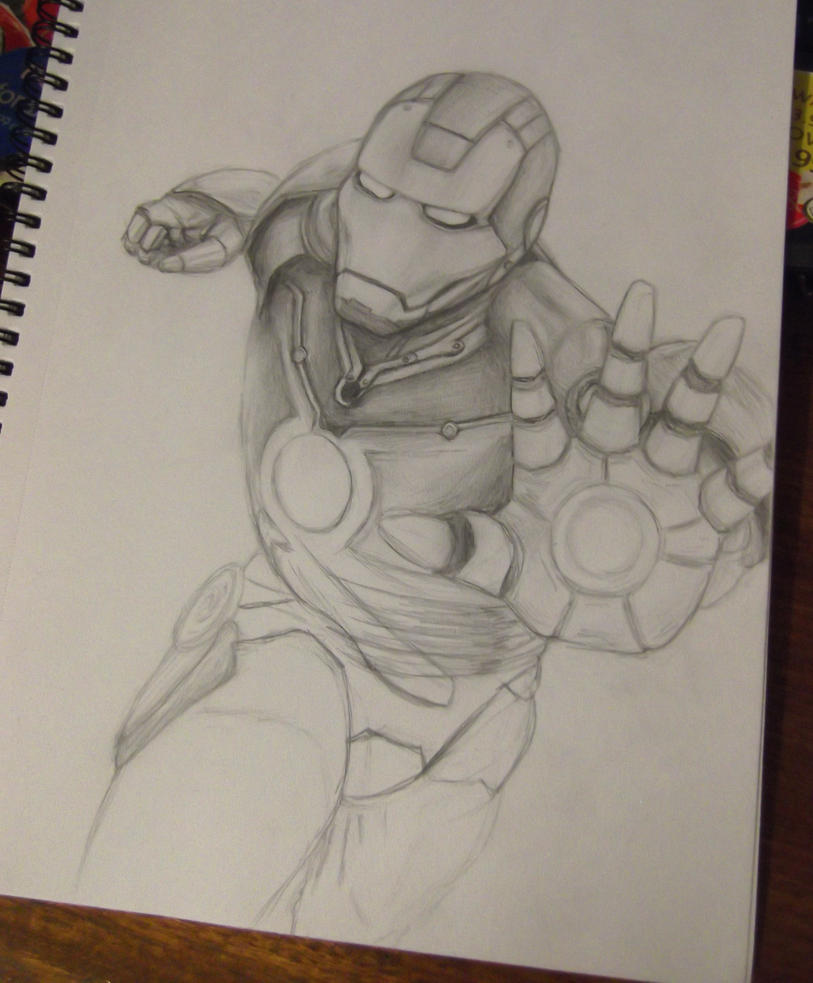 Iron Man - progress by SquirrelGirl111