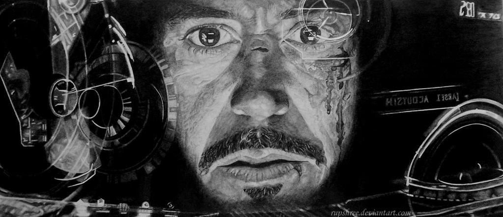 Iron Man's Head's Up Display by rupshree
