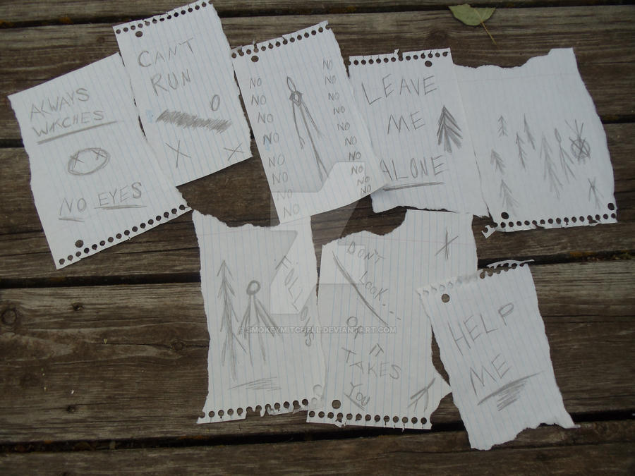 SlenderMan Game Notes by SmokeyMitchell on DeviantArt