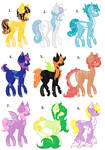 [MLP] Mare adoptables (OPEN 0/9) by Chandradopts
