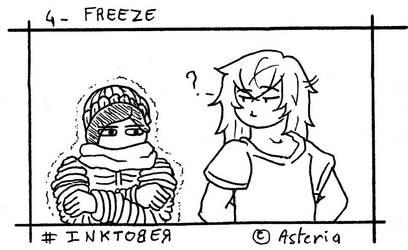 Inktober Day 4 - Freeze