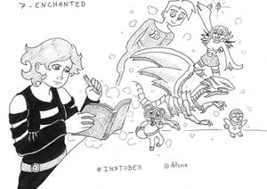 Inktober Day 7 - Enchanted