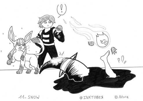Inktober Day 11 - Snow
