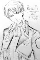 Rivaille Doodle by sakura-streetfighter