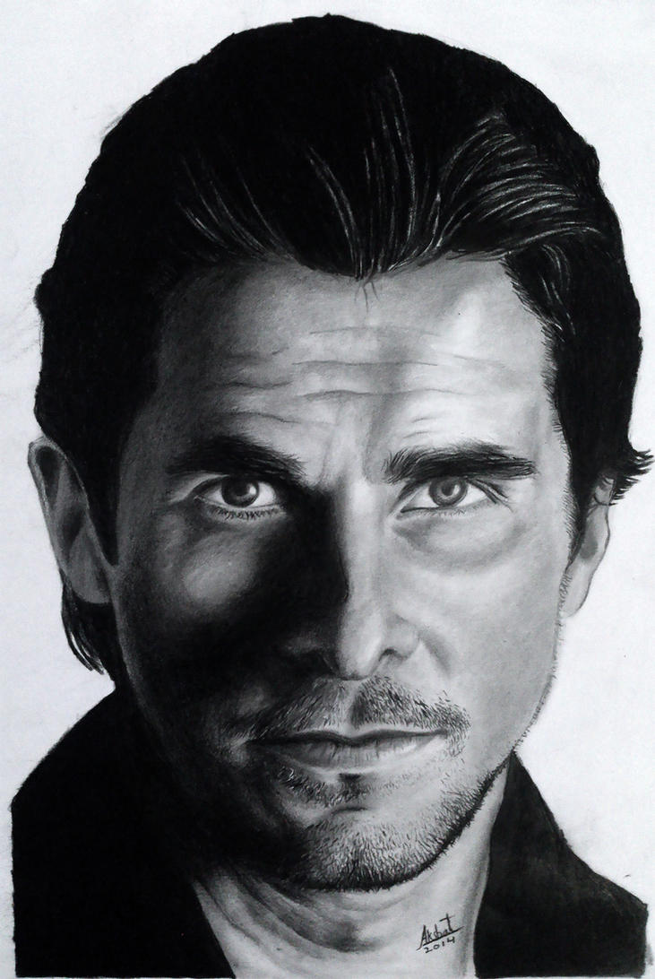 Christian Bale Portrait by AkshatSH