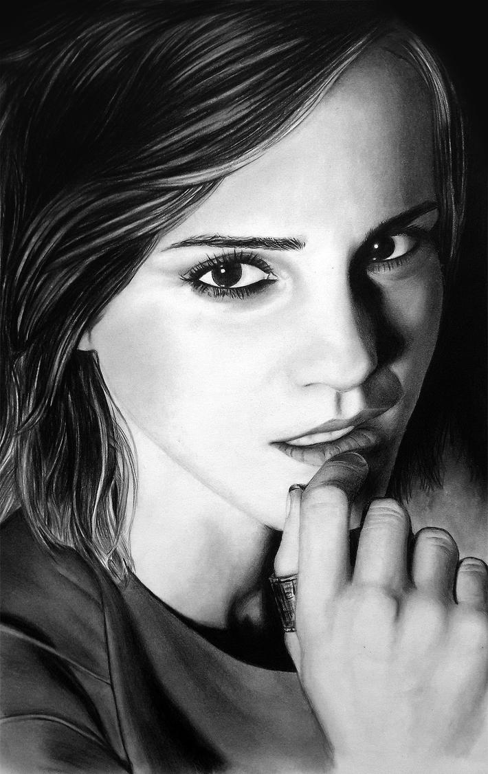 Emma Watson Charcoal Sketch by AkshatSH
