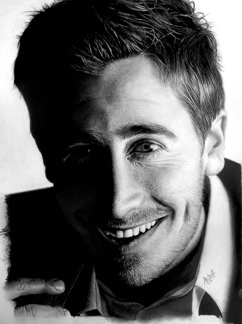 Jake Gyllenhaal graphite portrait