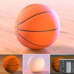 Basketball 3D render