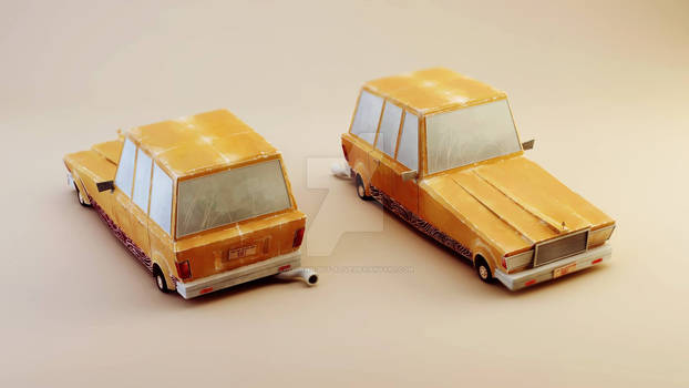 Family Saloon model for short animation On the Run