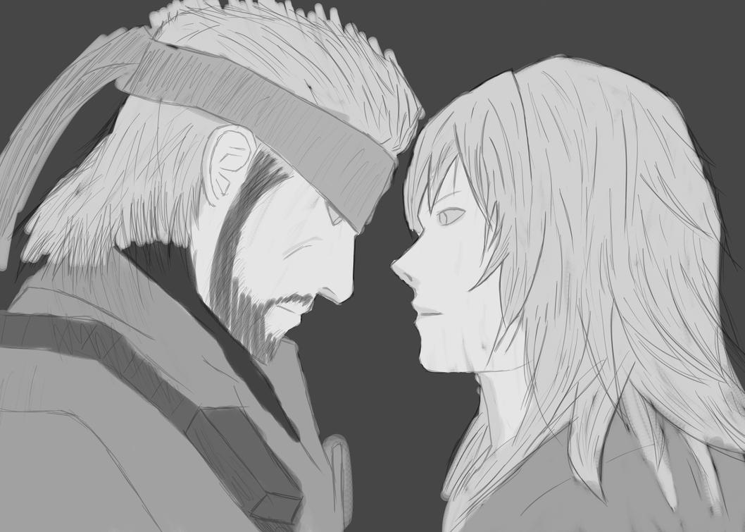 Snake and Eva (Sketch) by forrealsyall