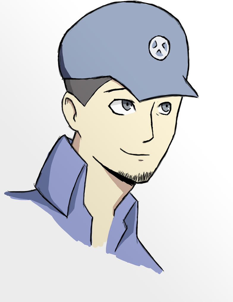 Junpei (finished sketch.) by forrealsyall