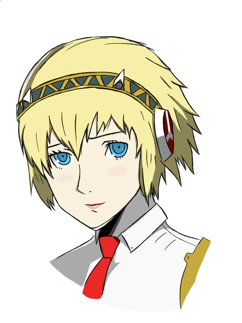 Aigis sketch (Finished) by forrealsyall