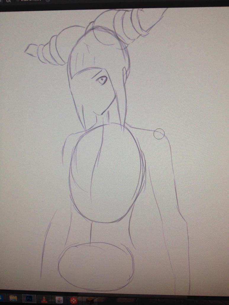 Juri Han (simple sketch.) by forrealsyall