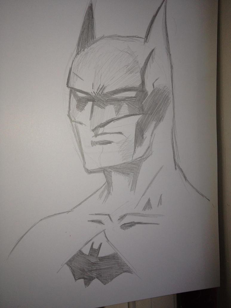 Batman Sketch by forrealsyall