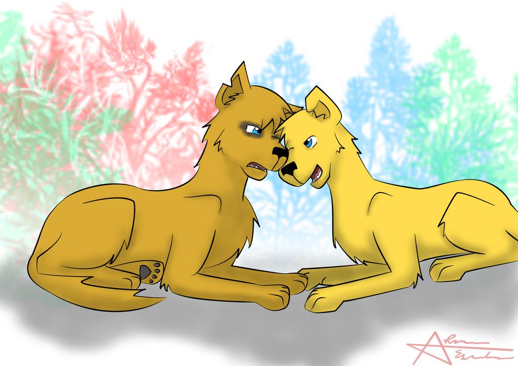 AdamXSandriel Pups by zybynarx