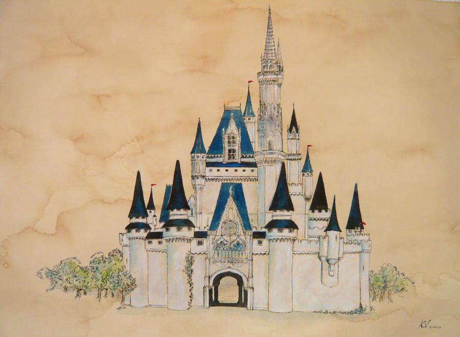 Disney Castle By Acv Art On Deviantart
