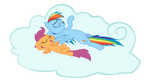Rainbow and Scoot chillin'