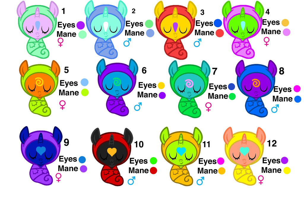 5 POINT ADOPTABLE BABY PONIES by Scootaloo24 on DeviantArt