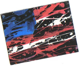 American Flag- Splatter Paint by DelJakar