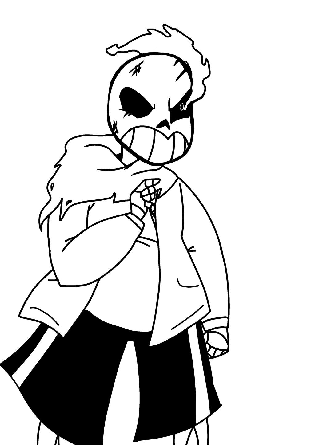 Undertale furious sans by rtnightmare on deviantart for Sans coloring page