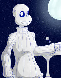 Stargazing with Sans by RTNightmare