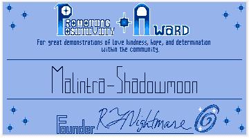 PP Award #1: Malintra-Shadowmoon