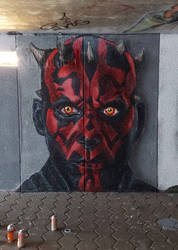 darth maul mural