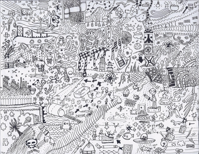 how to draw random doodles