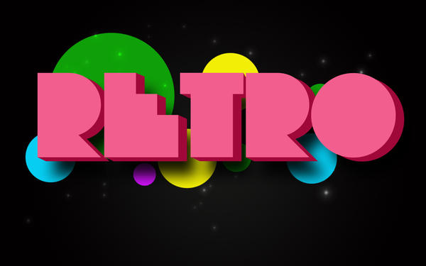 3D Retro Wallpaper by clarksie112