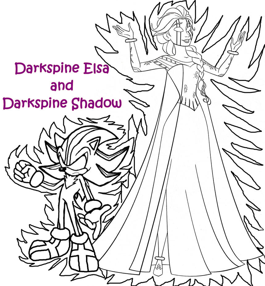 Darkspine Coloring Pages By Elsa Shadow