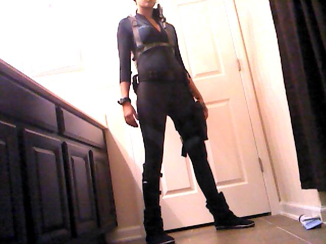 Jill Valentine Wetsuit WIP by tinypurplewings