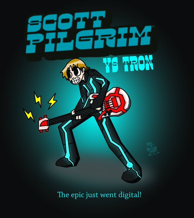 Scott Pilgrim VS Tron by KyojiArttz