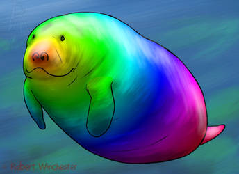 Hue Manatee by Bobert-Rob