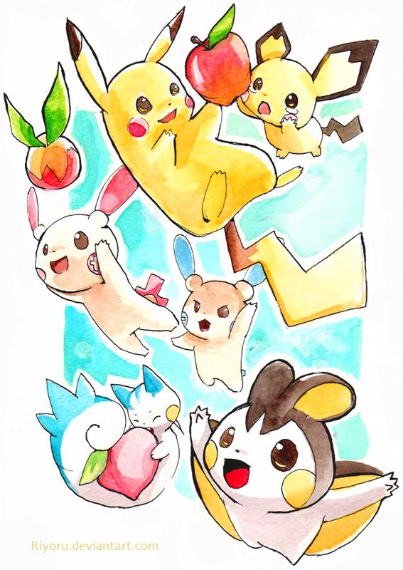 Pokemon Emolga And Pikachu Images | Pokemon Images