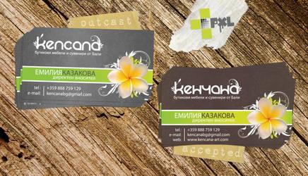 KENCANA boutique business card by plus1pxl